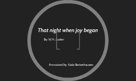 That night when joy began