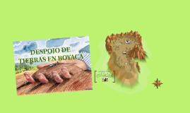 DESPOJO DE TIERRAS EN BOYACA