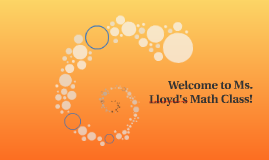 Welcome to Ms. Lloyd's Math Class!