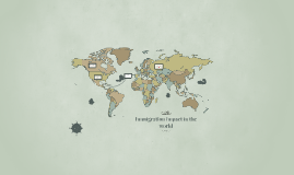 immigration impact in the world