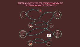 Vicio del consentimiento: Fuerza en celebración de contratos