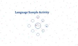 Language Sample Activity