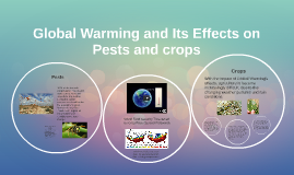 Global Warming and its effects on pests and crops