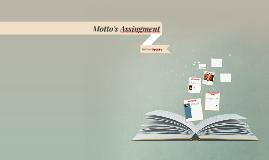 Motto's Assingment