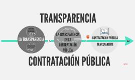 Transparencia y contratación pública.