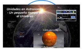 Unidades en Astronomía