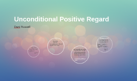 journal on unconditional positive regard Unconditional positive self-regard scale [12] the unconditional positive self-regard (upsr) scale is a twelve item measure scored on a five point likert scale.