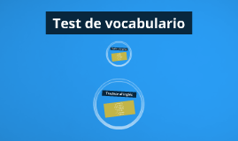 Test de vocabulario