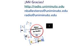 Coordinación de Radio - Uniminuto Radio Junio 2013