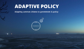 Adaptive Policy