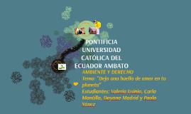 PONTIFICIA UNIVERSIDAD CATÓLICA DEL ECUADOR AMBATO