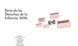 Feria de los Derechos de la Infancia, 2016.