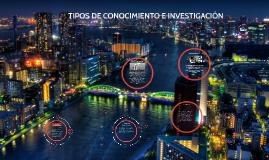 TIPOS DE CONOCIMIENTO E INVESTIGACION.