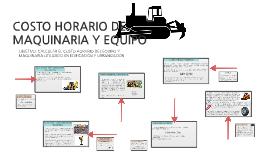 COSTO HORARIO DE MAQUINARIA Y EQUIPO