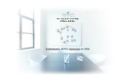 Evènements SFPIO par régions en 2016