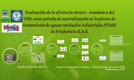 Evaluación de la eficiencia técnico - economica del CO2 como