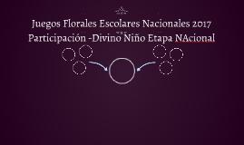 Juegos Florales Escolares Nacionales 2017