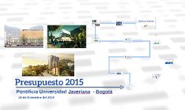 Presupuesto 2015 del 10dic14