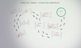 LÍNEA DEL TIMEPO - LITERATURA UNIVERSAL