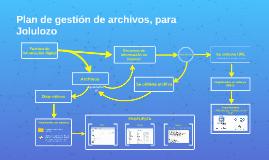 Un plan de gestión de archivos - Jolulozo