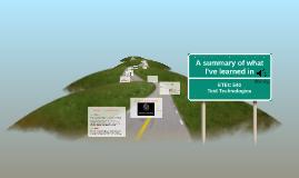 My journey through ETEC 540