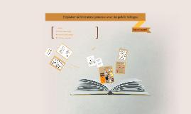 Exploiter la littérature jeunesse avec un public bilingue