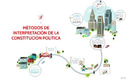 Copy of MÉTODOS DE INTERPRETACIÓN DE LA CONSTITUCIÓN POLÍTICA