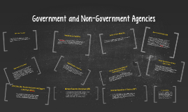 Government and Non-Government Agencies
