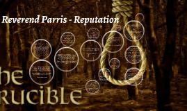 Reverend Parris The Crucible Symbol