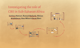 Investigating the role of CBS in Sub-Saharan Africa