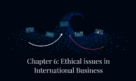 Chapter 6: Ethical issues in International Business