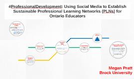 #ProfessionalDevelopment: Using Social Media to Establish Su