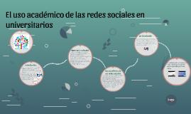 El uso académico de las redes sociales en universitarios
