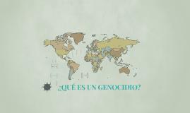 ¿Que es un genocidio?