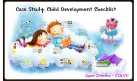 Case Study: Child observation checklist