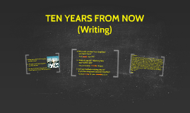 WRITING: TEN YEARS FROM NOW (I01)