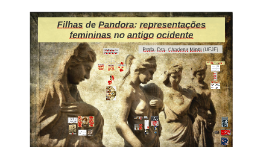 Filhas de Pandora: representações femininas na literatura ociden