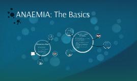 ANAEMIA: The Basics