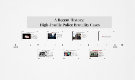 A recent history of police misconduct