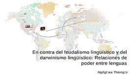 Feudalismo y darwinismo lingüístico