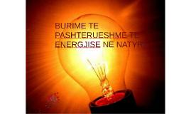 BURIME TE PASHTERUESHME TE ENERGJISE NE NATYRE