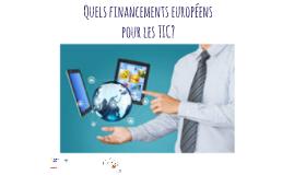 Copy of Quels financements européens