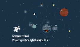 Copy of Kosmoso tyrimai