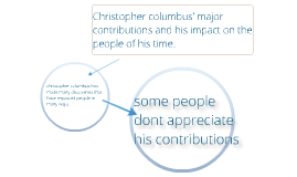 christopher columbus contributions