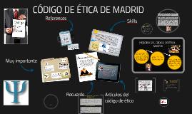 CÓDIGO DE ETICA DE MADRID