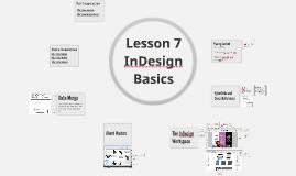 CAP 105 Lesson 7: InDesign Basics