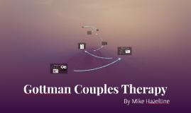 Gottman Couples Therapy