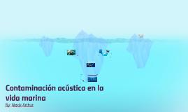 Contaminación acústica en la vida marina
