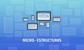 MICRO- ESTRUCTURAS