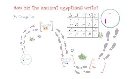 how the ancient egyptians wrote